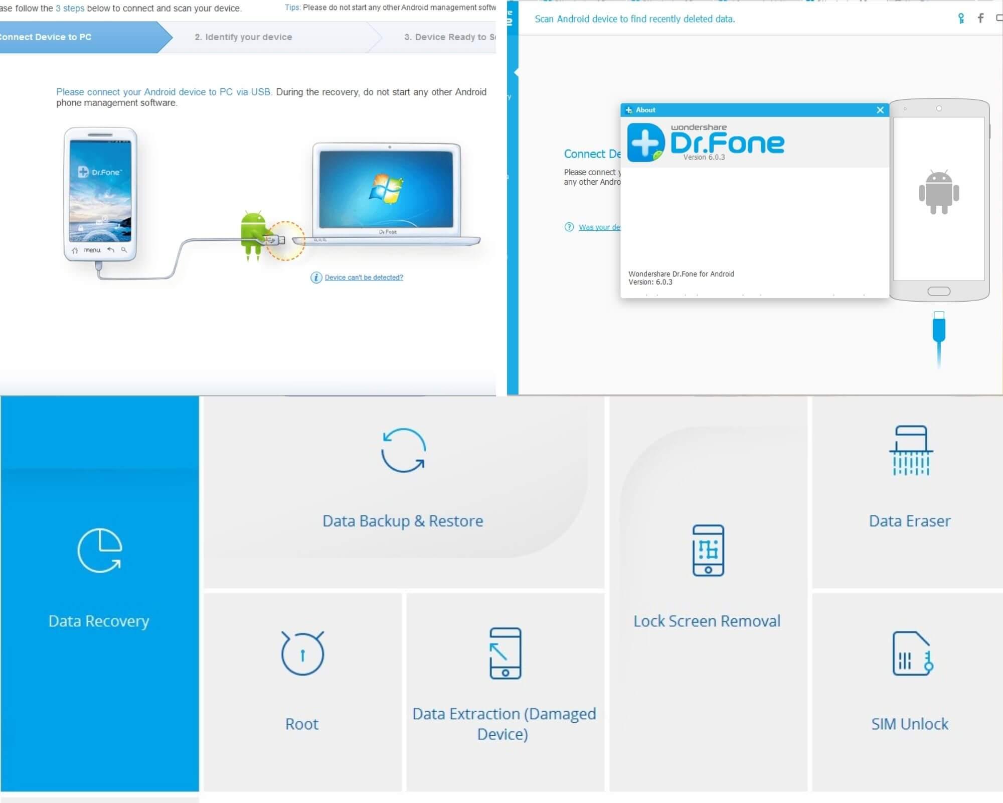 نرم افزار ریکاوری موبایل Wondershare Dr Fone